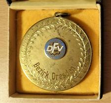 DDR Medaille Münze DFV BFA Bezirk Dresden Für gute Mitarbeit Fußball Oberliga