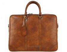 Italian Genuine Leather Briefcase / Workbag / Business Bag / Folder  - brown