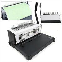 21 Holes Manual Steel Comb Coil Binding Machine Paper Punch Binder USA STOCK