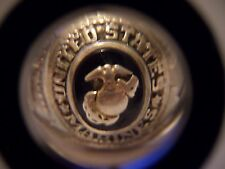 VINTAGE UNITED STATES MARINES CREST CRAFT STERLING RING SIZE 10 WAS $210