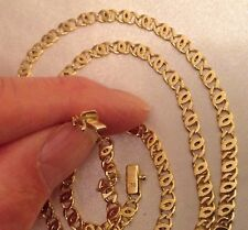 Superb Heavy 18ct Solid Gold Anchor Chain Necklace. 31 Inches Long 4.50mm wide