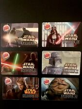 "Star Warsâ""¢ Burger King The Complete Saga Gift Card Collection Premium Lot"