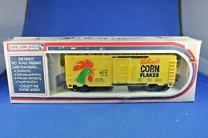 HO Life-Like #08481 S/D Box Car - Kellogg's Corn Flakes - Excellent+++ Condition