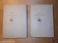MEMOIRES DE MADAME DE STAAL LAUNAY 1890  Tirage N°40 Grand Papier Chine Gravures