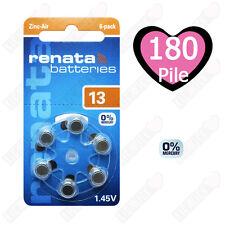 180 Batterie Pile 13 Protesi Acustiche PR 48 Renata Arancioni