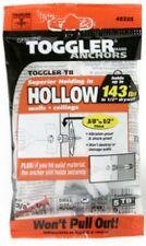 "Toggler, 5 Pack, 3/8""-1/2"", TB Hollow Wall Anchors With Screws 50300"