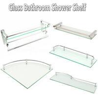 Bathroom Shower Glass Shelf Corner Rectangle Rack Towel Rail Organizer Holder 🔥