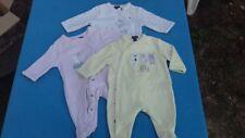 Lot vêtements bébé 4 pyjamas velours Taille 1mois