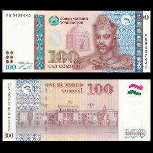 Tajikistan 100 Somoni, 1999(2013), P-27,Banknote, UNC