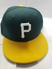 Pittsburgh pirates new era fitted hat Green And Yellow