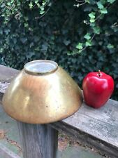 "Vintage Antique 8"" Diameter Brass Bronze Distressed Surface Metal Bowl"