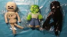NEW Lot of 3: Minecraft mob plush figures Zombie Enderman toy set