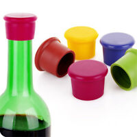 4Pcs Reusable Wine Beer Cover Bottle Cap Silicone Stopper Beverage Tool NP2X