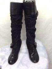 DOLLHOUSE Black SUEDE Knee high BOOTS w/ Side Zipper Size 8.5M