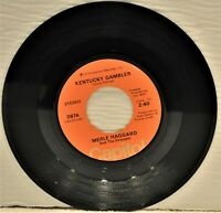 "MERLE HAGGARD ""Kentucky Gambler / I've Got A Darlin' "" 1974 45 RPM Capitol 3974"