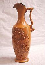 Old Vintage Royal Haeger Art Pottery Pitcher Vase Butterscotch Shelf Marked USA