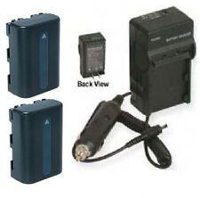 2 Batteries + Charger for Sony DSC-S75 S85 R1 DSR-PDX10 HDR-HC1 SR1 SR1E HVR-A1U