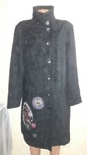 Kirsten Black Coat With Print And Embroidery Jacket Windbreaker Size 12/16