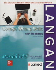 NEW 3 Days US College Writing Skills, with Readings 10E John Langan 10th Edition