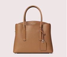 "Kate Spade New York ""Margaux"" Medium Leather Satchel Gingerbread Color Care Card"