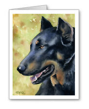 Beauceron Set of 10 Note Cards With Envelopes