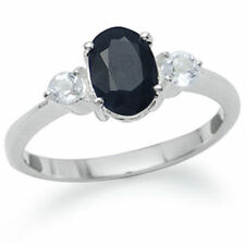 Topaz Natural Sapphire Sterling Silver Fine Rings