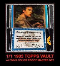 1:1 COA A-Team 80's Mr. T 4 Color CMYK 1983 Topps Card Trader PROOF SET galoob