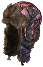 Hardwoods Camouflage Russian/Hunters W/Soft Faux Fur Winter Hat, Ski #145 Pink