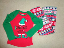 Holiday Time Christmas Pajama PJ's Sleepwear Pants Set Outfit Girls Size 7/8