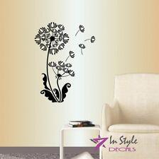 Vinyl Decal Dandelion Flower Floral Design Nature Wall Sticker Mural Decor 1466