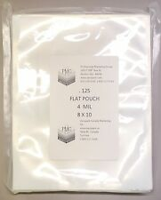 4 Mil 8x10 125ct Flat Commercial Chamber Bags SousVide Vacuum Sealing VacMaster