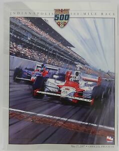 2007 Indianapolis 500 Official Program Line-up Insert Dario Franchitti Andretti