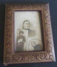 ANCIEN CADRE PORTE PHOTO EN CUIR VINTAGE FRENCH PICTURE PHOTO FRAME