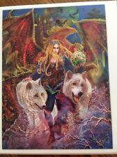 Mystical Shimmer Steve Roberts Wolves Bats Egg Tiara 550 Pc Puzzle 18x24 Fantasy