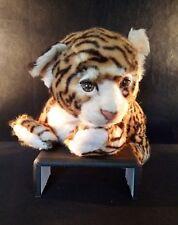 Aux Nation Plush Standing life like Leopard Cub 1980's France