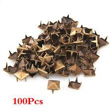 100x 10mm Metall DIY Pyramiden Nieten Ziernieten Gothic Bronze GY