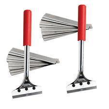 """2 X Lado rascadores suelo 12 """"de largo con 20 X 4"""" Raspador Blade"""