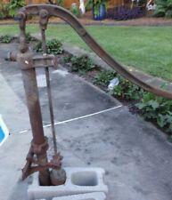 Antique Vintage Cast Iron Water Hand Pump, Yard Art, Not Working, No Base