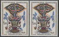 "FRANCE TIMBRE N° 1493 "" TAPISSERIE LURCAT VARIETE COULEUR "" NEUFS xx TTB K120b"
