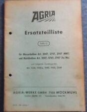 Agria Ersatzteilliste für Messerbalken , Mulchbalken