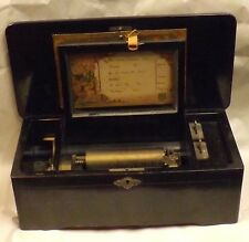 19th Century Victorian Mermod Freres Swiss Cylinder Wood Music Box 6 Songs ~WOW~