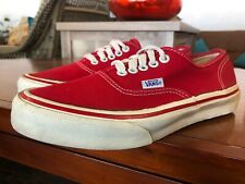 Vintage Vans Era Sneakers Made in USA Red Canvas Mens Size 7