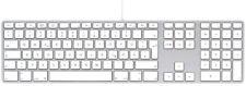 Apple Tastatur Keyboard mit Ziffernblock USB Mac Deutsch QWERTZ MB110D/B  A1243
