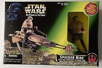 NEW Star Wars POTF Speeder Bike with Luke Skywalker 1997 Hasbro