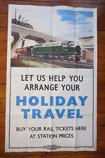 1960s D209 Diesel Loco Holiday Travel Railway Train Poster A N Wolstenholme