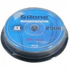 10 x Aone 4X 25GB Full Face Printable Blu-ray Blank Disc 10pcs