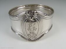BEAUTIFUL ANTIQUE SOLID SILVER KOCH & BERGFELD NAPKIN RING