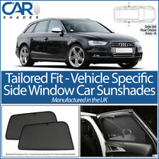 Audi A4 Avant 2008-15 CAR SHADES UK TAILORED UV SIDE WINDOW SUN BLINDS PRIVACY