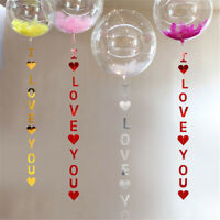 I LOVE YOU Banner Heart Garlands Bunting For Valentine's Day-Wedding-Party-Decor