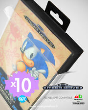 10 BOITIERS PROTECTION PROTECTIVE CASE SEGA MEGADRIVE MASTER SYSTEM 0,4 mm NEUF